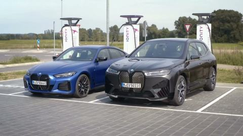 The first ever BMW iX Driving and Charging   BMW iX and BMW i4