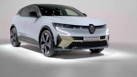 All-new Renault Megane E-TECH Electric Design Preview in studio